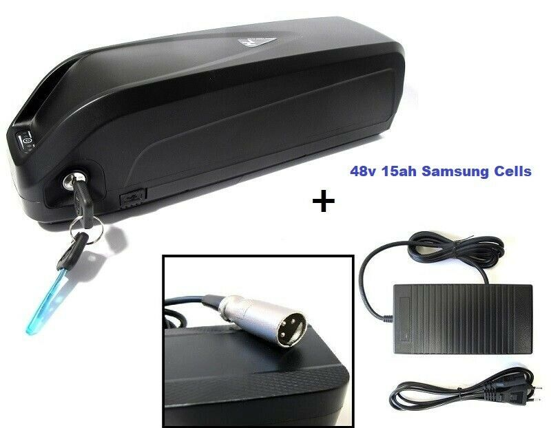 48V 15Ah 1000W Hailong - 3 Li-ion de Litio Célula Samsu E-Bike Batería Cochegador USB