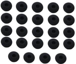 Earbuds-Sponge-Foam-Headphone-Covers-For-Earphone-Earpad-Sports-15mm-New-Black