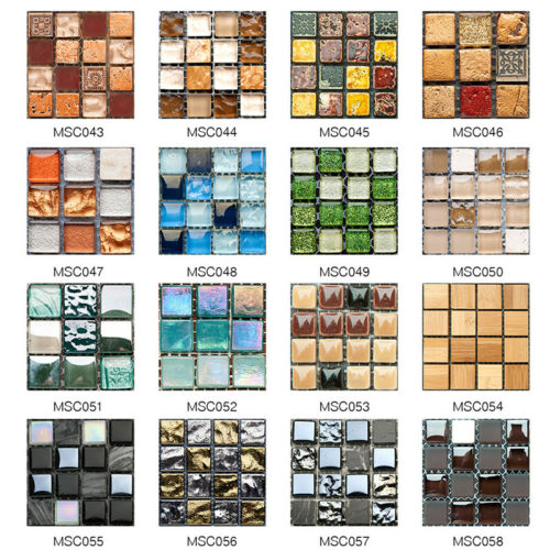 3D Self Adhesive Mosaic Tile Sticker Kitchen Bathroom Wall Stickers Decor UK