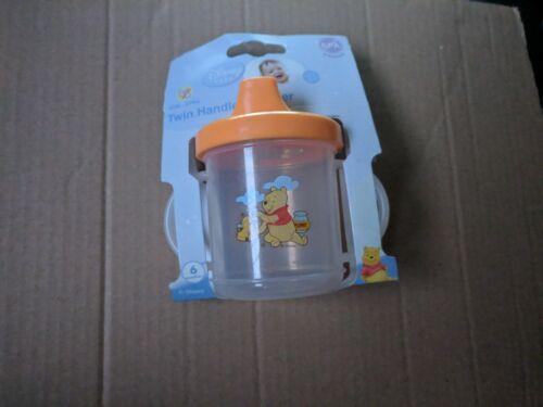 2x WHINNIE THE POOH TWIN HANDLED BEAKER BPA FREE CLEARANCE BARGAIN WOW!!!!