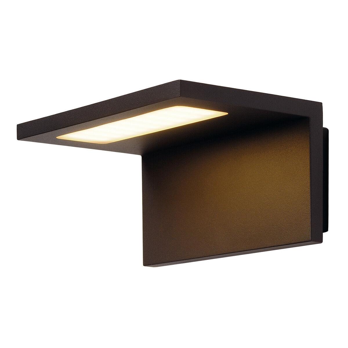 FARETTO ESTERNO IP44 angolux Muro Luce, Antracite, 36 SMD LED, 3000K, IP44