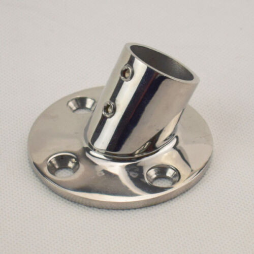 """1PC 316 Stainless Steel Hand Rail Fittings 60 Degree 1/"""" Round Base Deck Fabulous"""