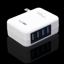 Upgraded 2.1A 4Ports USB AC Wall Home Charger Power Adapter For iphone Tablet PC