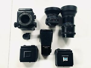 Mamiya-RZ-67-full-optional-Sekor-110mm-Sekor-250mm-Prism-AE-Magnifier-2x-Ma