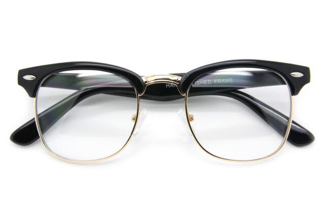 Vintage designer Half Frame Rimless Glass Green Lens