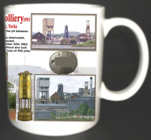 HOUGHTON-MAIN-COLLIERY-COAL-MINE-MUG-LIMITED-EDITION-GIFT-MINERS-YORKSHIRE-PIT