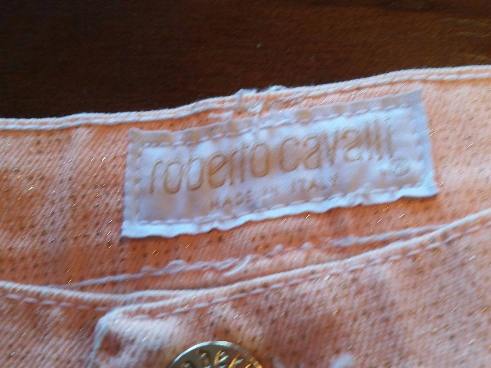 Roberto Cavalli Hand Painted Designer Jeans