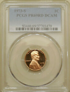 1973-S-PCGS-PR69DCAM-proof-Lincoln-cent-deep-cameo-red-DCAM-registry-coin