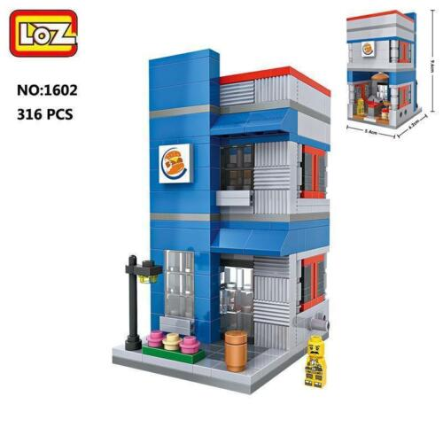 LOZ Street Burger King Food Restaurant Mini Nano Building Block Diamond Toy Gift