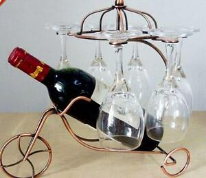 Image Is Loading Retro Metal Wine Rack Gl Bottle Holder Table
