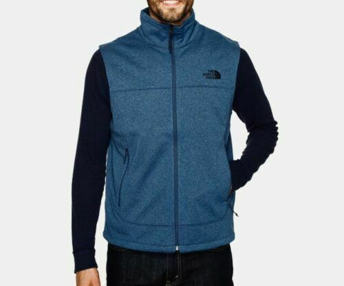 New Mens The North Face Water Repellent Canyonwall Jacket Coat Vest Blue