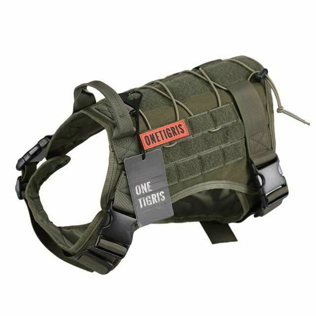 OneTigrigio OneTigrigio OneTigrigio Dog Harness Vest for Walking Hiking Hunting Tactical Military Water-Re 26b3b3