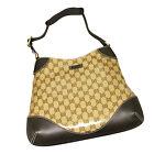 NEW Authentic GUCCI Crystal Hobo Shoulder Bag Handbag w/Leather Trim 272386