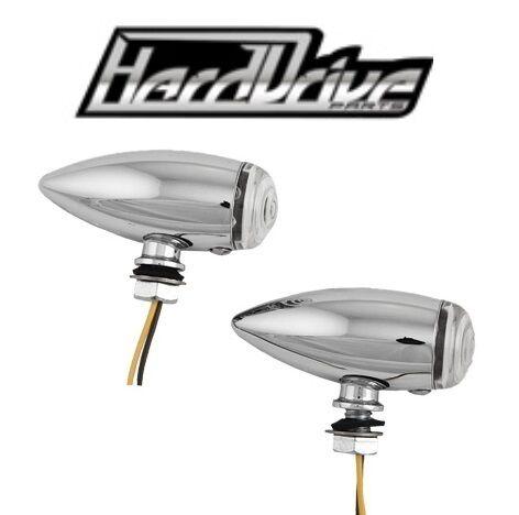 Universal Motorcycle LED Turn Signals Brake Lights CLEAR LENS  Chopper Tear Drop