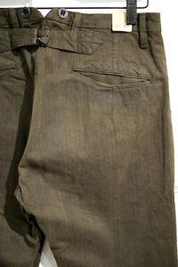 RRL DOUBLE RL JEAN VINTAGE BUCKLE BACK PANT new straigh leg colered trouser rare