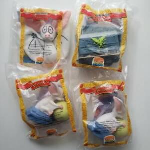 LOT-OF-4x-1997-Vintage-Burger-King-Anastasia-Kids-Club-Meal-Toys-Sealed-NEW