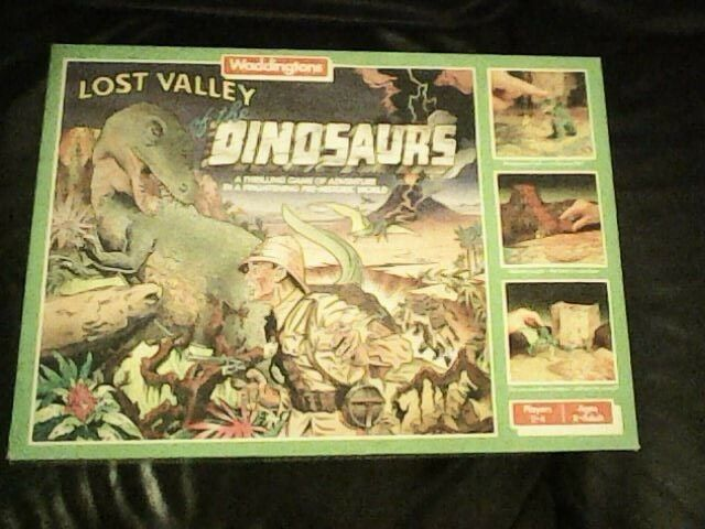 LOST VALLEY OF THE DINOSAURS BOARD GAME BY WADDINGTONS NEAR COMPLETE 1985