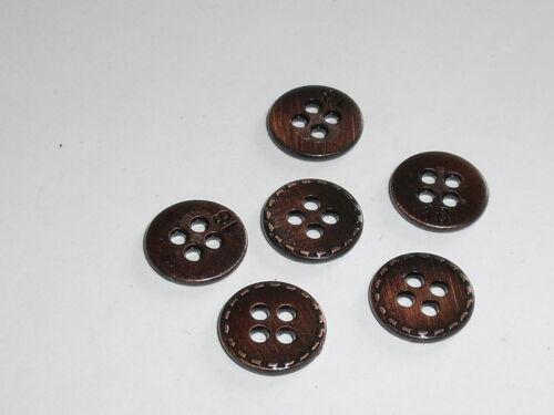 10 pièce de métal Boutons bouton boutons 11 mm altkupfer article neuf inoxydable #601.2#