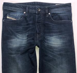 Da-Uomo-DIESEL-BUSTER-Jeans-W30-L32-Blu-Regular-Slim-Tapered-Wash-0853R-stretch