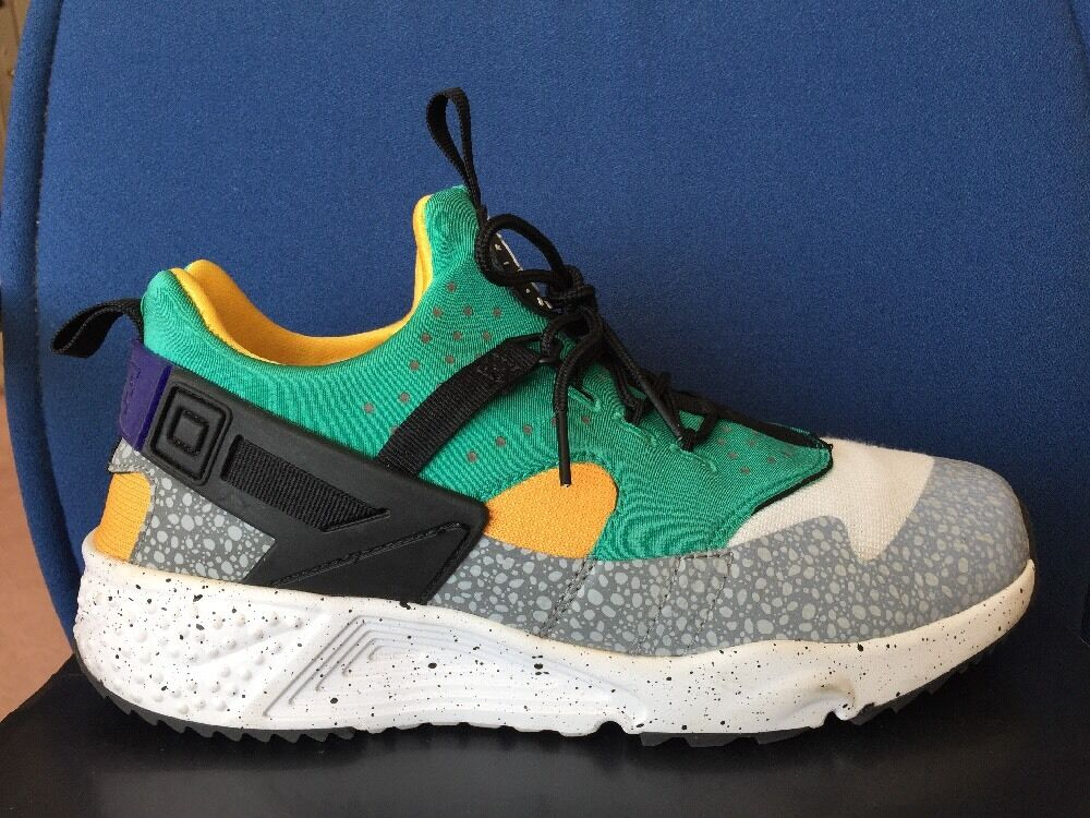 Nike air huarache utility weiß prm safari sz 9,5 weiß utility - grüne lila gelb 806979-103 bb3af9