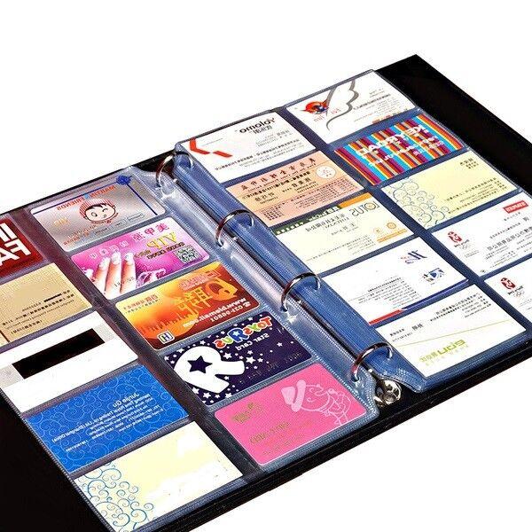 Profi Visitenkarten Ringbuch Ordner Mappe 480 Karten