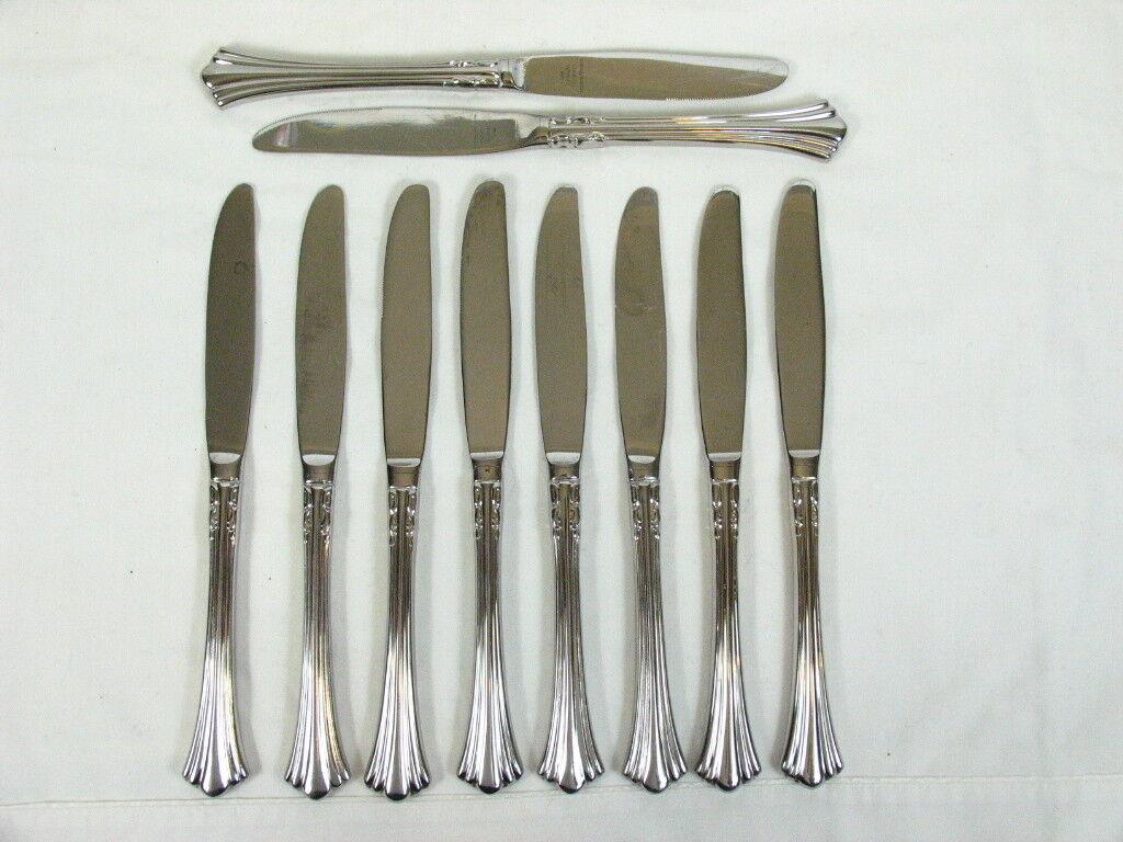 10 REED & BARTON  1800  Dinner Knife Stainless 18 8 Korea Flatware 9 1 8