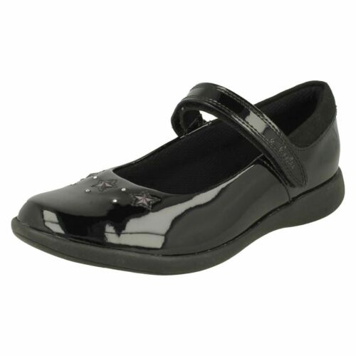Girls Clarks Star Detailed School Shoes /'Etch Bright/'