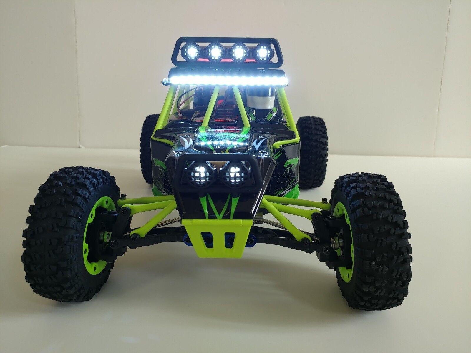 Arrive before Xmas. Wltoys 12428 RC 4WD racer racer racer w/front & rear LED light bar. abd1da