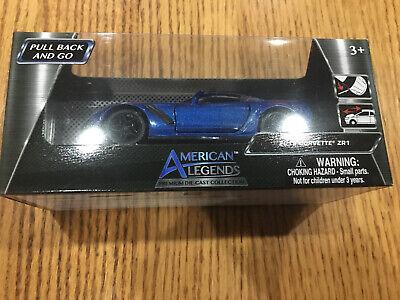 American Legends Premium Die-cast Collection 2019 Corvette ZR1 Blue NEW