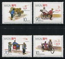 MACAU MACAO 1987 Transport Sänfte Rikscha Fahrradrikscha 583-86 ** MNH