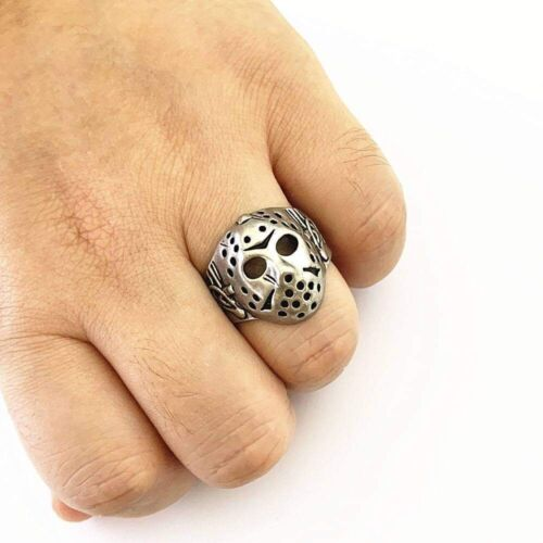 Details about  /Jason Voorhees Mask Ring Horror Ring Friday the 13th Gunmetal Color USA
