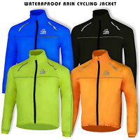 Mens Cycling Jacket High Visibility Waterproof Breathable Running Top Rain Coat