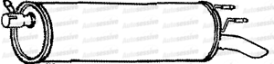 Exhaust Silencer Flex Pipe Replacement Connecting Fits Nissan Cabstar 2.5Td 06