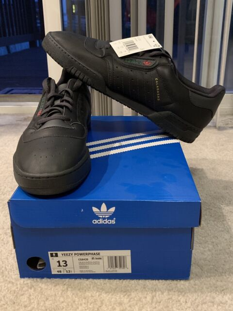 on sale 2df6b 94591 Men s Adidas Yeezy Powerphase Calabasas Size 13 Core Black CG6420