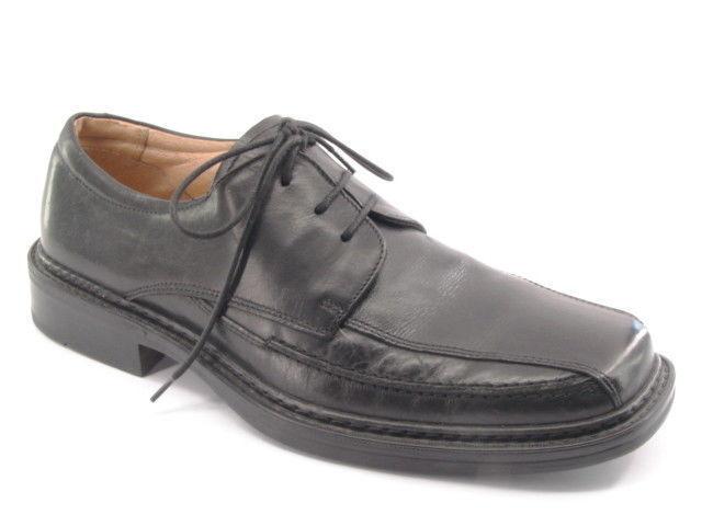 Nuevo J FERRAR Hombre Negro Cuero Oxford Vestido Zapato M Italia