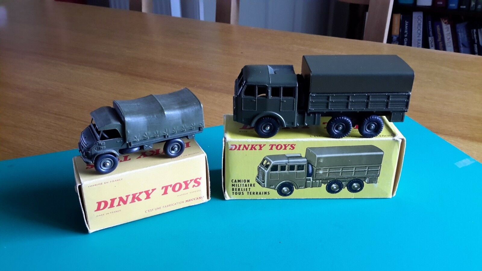VINTAGE FRENCH DINKY  818 BERLIET &   821 UNIMOG MERCEDES TRUCK - ORIGINAL BOXES