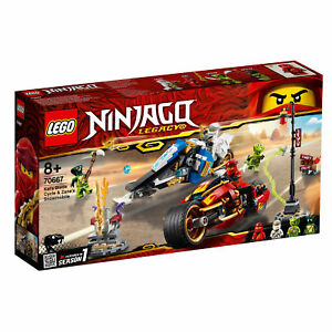 70667-LEGO-Ninjago-Kai-039-s-blade-cycle-amp-Zane-039-S-MOTONEIGE-376-PIECES-8-ans-2019