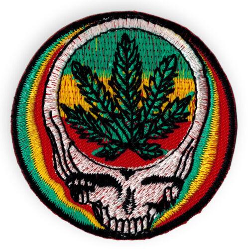 Ricamate canapa foglio aufbügler POT Hemp RAGGAE cannabis Patch greatfull Dead