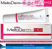 Anti Melasma Hydroquinone 2% Cream (melloderm-hq 2% 0.25 Ounces) Once Daily A...