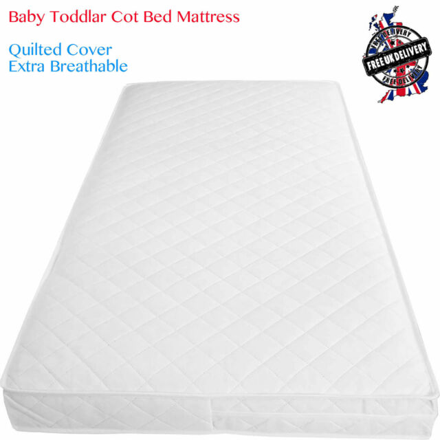 release date: de43e 7ba44 Baby Toddler Cot Bed Breathable Quilted And Waterproof Foam Mattress All  Sizes