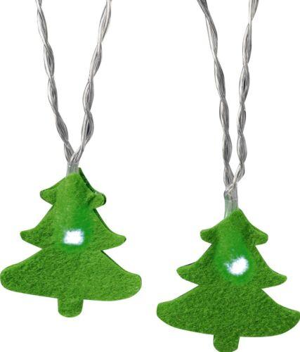 Weihnachts-Motiv-Lichterkette Weihnachtsbaum Innenbeleuchtung/_Akkubetrieb 12 LED