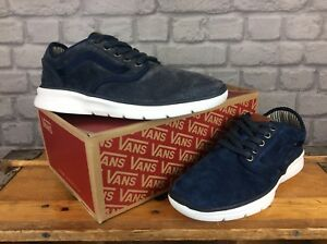 24d8d01f9b VANS MENS UK LXVI ISO 2 CASUAL NAVY BLUE TRIM DRESS BLUES TRAINER ...