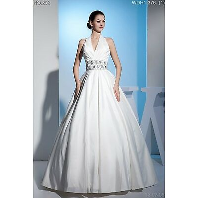 Full length Wedding Dress Bridal GOWN SIZE 4,6,8,10,12,14,16 WDH1-376