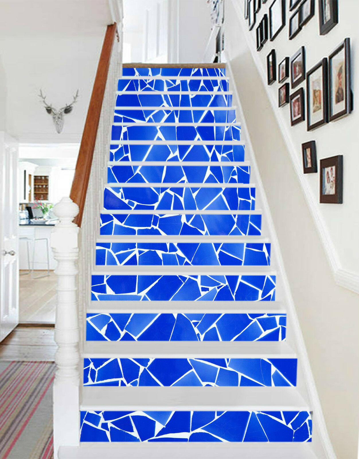 3D Terrazzoestrich Stair Risers Dekoration Fototapete Vinyl Aufkleber Tapete DE