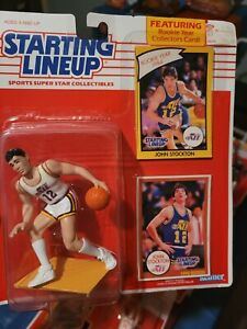 Starting Lineup Slu 1990 John Stockton Utah Jazz figure New