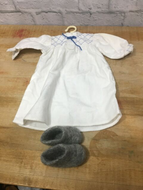 Retired American Girl Doll Kirsten's Nightgown W/ Wool Slippers