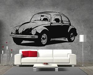 Volkswagen-Beetle-Vinyl-Sticker-Wall-Art-Boys-Bedroom-Garage-Play-Room