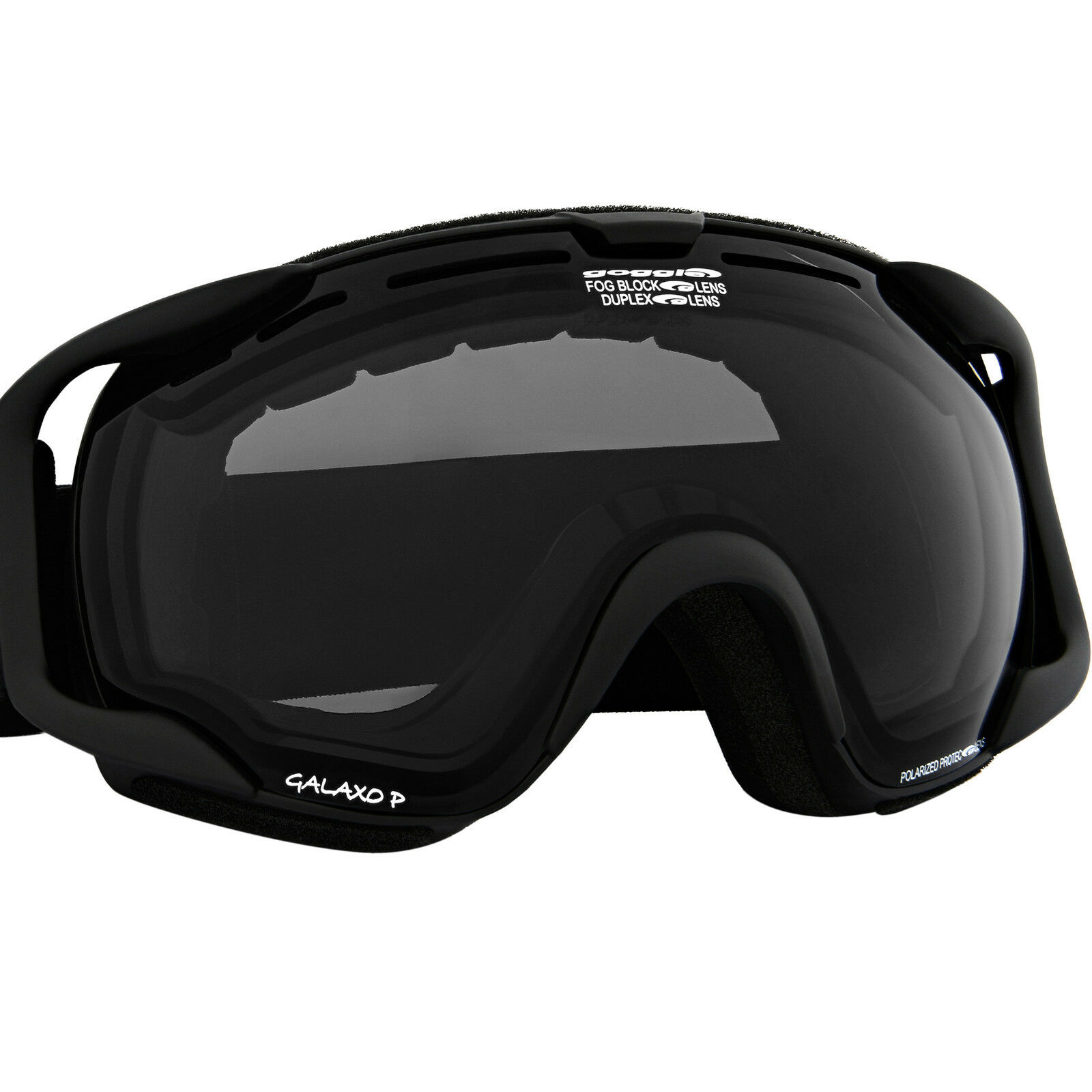 Goggle Skibrille polarisierend Snowboardbrille Schneebrille polarisiert schwarz