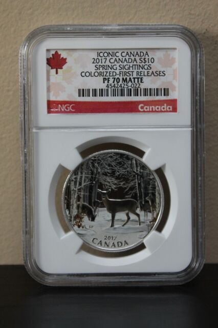 2017 Canada Spring Sightings Colorized-1st Releases Iconic Canada S$10 NGC PF70