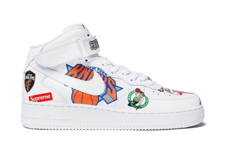 Supreme Nike Air NBA Air Nike Force 1 MId White Size 12-SS18 (Confirmed Order) 4bab16
